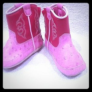 Infant pink western boots